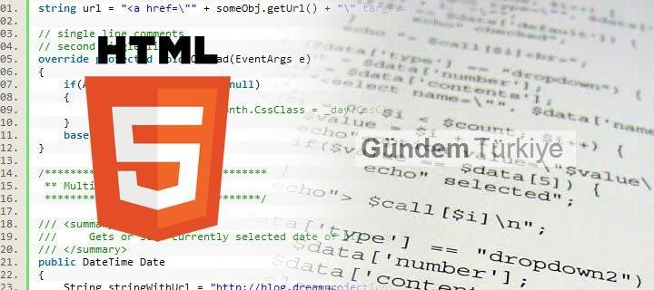 HTML HTML5 VE KULLANICILARA FAYDALARI - II